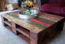 Paletten, Holz / Tisch aus Palleten