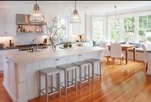 Beautiful Kitchen Ideas / Inspiration of designing, decorating, and organizing a kitchen