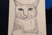 Mijn schetsen / In de regel maak ik iedere dag een schets met niet meer dan een HB-potlood op een schetsblok. Maar ik hou me ook wel eens niet aan die regel.