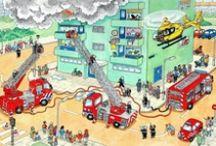 Thema 112 / Lesideeën rond het thema 112.  Brandweer, politie en ziekenhuis