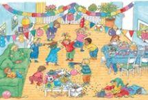 Feestje in de klas / Ideetjes voor verjaardagsmutsen, liedjes en filmpjes, spelletjes en meer voor een jarig kind of een jarige juf