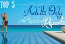 ADULTS ONLY, All Inclusive Honeymoon Resorts / Adults Only Resorts create the perfect ambiance for adults looking to enjoy each other in a child-free environment. We highly recommend these for our all inclusive honeymoon, destination wedding and anniversary couples.  At the Adults Only Resorts below, you won't have children screaming past your hammock for two. You won't have babies crying during your candlelit dinner. You won't have to cover your drink at the pool to avoid having water splashed in it.