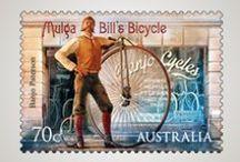 timbres - vélo/cyclisme / Timbres sur le thème du vélo