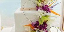 Wedding Cakes - Beach Wedding / Top Cakes for Your Destination Wedding Beachside