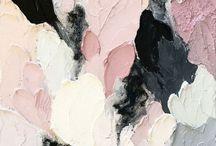 Colours / Watercolour, glitter, textures, patterns