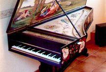 Vintage Piano's, Guitars,Violins & etc. / Different Kinds Of Instruments