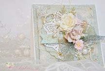Shabby Chic Card Ideas / Shabby Chic, French Provincial, Vintage, Floral, Lace, Tea Room, Old English, Rustic.  I have a very broad view as to what constitutes Shabby Chic, soft and pretty feminine pastel styles are really the common thread through all variations of this genre/theme. / by Lyna Falzino