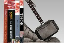 Geeky Bookends and other accessories / What do you need for you GeekyLibrary? Besides GeekyBooks, you need bookends and other accessories! #GeekyBook