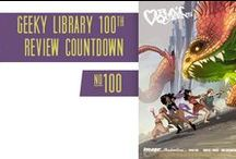 GeekyLibrary 100th Book Review Countdown / On http://geekylibrary.com, we are counting down to our 100th book review. Join the fun and read new reviews.