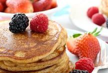 """Food: Pancakes / """"Harold, if you pause to think, you'd realize that that answer is inextricably contingent upon the type of life being led... and, of course, the quality of the pancakes"""" — Dr. Jules Hilbert in Stranger than Fiction / by ❤ Just Me ❤"""
