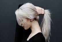White/silver hair