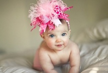 Girls Ribbons and Bows / Lovely ribbons, headbands and bows for girls.