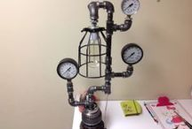 Steampunk Lamps / One of a kind lamps made by Dino Calabrese.