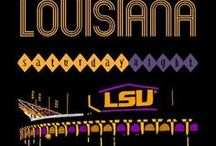 Fighting Tigers of Louisiana State University / Geaux neat LSU pins! / by Memal