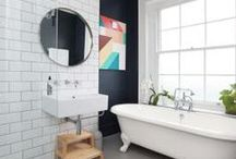 Wash Up / A colorful collection of decorating and design ideas for an eclectic, vintage modern bathroom. Looking for more colorful inspiration? Visit: www.KOLORIZE.etsy.com  / by KOLORIZE | Jamie