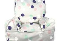 Bean Chairs and Cushions by Lelbys / Bean Chairs and matching cushions. Made for children 1 – 5 years old.