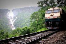 આગ ગાડી, लोहपथगामिनी, Train... / Travel by train...make your journey through tracks..