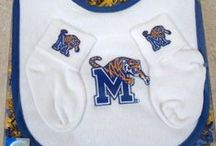 """Memphis Tiger Baby / Future Tailgater offers awesome Memphis Tiger baby apparel, accessories & gift sets for baby fans. Our items will make you smile cause they're """"Made to Play""""!"""
