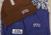 """TCU Horned Frogs Baby / Future Tailgater offers awesome TCU Horned Frogs baby apparel, accessories & gift sets for baby fans. Our items will make you smile cause they're """"Made to Play""""!"""