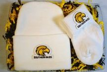 """Southern Mississippi Golden Eagle Baby / Future Tailgater offers awesome Southern Mississippi Golden Eagle baby apparel, accessories & gift sets for baby fans. Our items will make you smile cause they're """"Made to Play""""!"""