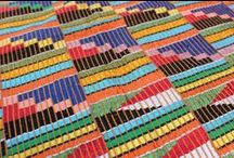 Kente / Kente fabrics from Ghana: inspiration for quilts!