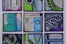 inchies, atcs, mosaics, tiles