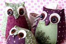 Owls: MariaPalito's crazy love for Owls / There is something about cute owls that MariaPalito is crazy about. Maybe is their big open eyes, their wings or the cute shape. I am always wondering what's behind those big eyes! / by Maria Palito