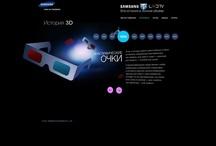 Samsung 3D TV / Microsite design for Samsung 3D TV promo