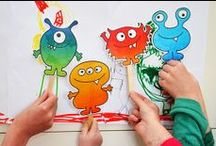 Monster Party Ideas for the wild little monster / Mariapalito is Driving me crazy about her next Party, She wants a very wild colorful party and here is some inspiration. Be Careful Monsters are everywhere, don't get scary they are really friendly and fun!  / by Maria Palito