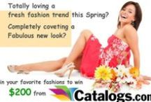 Fabulously Fresh Spring Fashion Trends / A collection of our followers' trendiest 'must haves' pinned to enter the Catalogs.com $200 Spring fashion shopping spree. Get in a Spring state of mind and show what you'll be wearing when Old Man Winter FINALLY says goodbye, enter here http://bit.ly/1dgTWel / by catalogs