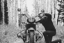 Gentleman Bikers / It's all about the style, the attitude and the life on two wheels.   Be a gentleman biker.