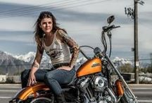 Lady Bikers of the World Unite / You own the road. Life on two wheels.