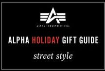Alpha's Holiday Gift Guide- Street Style / The coolest gifts for anyone on your list who has dope street style. Make sure to check out the best pieces for the holiday season: http://www.alphaindustries.com/