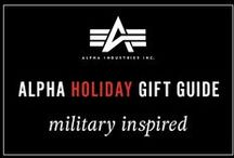 Alpha's Holiday Gift Guide- Military Inspired / Staying true to our heritage, here's the perfect presents for anyone on your list who loves rocking military-inspired styles. Check out all of our must-have items for this holiday: http://www.alphaindustries.com/