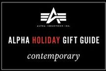 Alpha's Holiday Gift Guide- Contemporary / Cool, collected & contemporary. These are the perfect gifts for the ultimate modern man and woman. Check out all of our best gifts: http://www.alphaindustries.com/