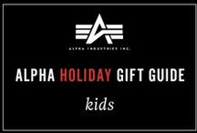 Alpha's Holiday Gift Guide- Kids / Keep the little ones fresh going into the new year. The best gifts for super stylish kids. Check out all of our youth items: www.alphaindustries.com