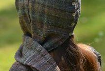 L'Atelier des Bruyères / Heather's Studio / Mes créations pour mon atelier : mélanges de fibres, filage, tissage, crochet et tricot / my work for my studio : fiber blends, handspun yarn, weaving, crochet and knitting / by Claire Des Bruyeres