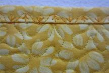 Quilt Bindings / Embroidery Stitched Quilt Bindings