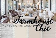 Farmhouse Chic / Farmhouse and Barn looks with a modern appeal