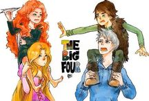 RotG and the big 4 / Rise of the guardians, brave, tangled, and how to train your dragon. But mostly Rotg.
