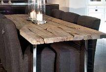 Home inspiration - wood / Scaffolding-wood, driftwood, steigerhout, bauholz, pallets, veilingkistjes