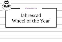 Jahresrad - Wheel of the Year / Bildliche Darstellung vom Jahresrad, den Jahreszeiten oder auf den Jahreskreis der Natur basierende Kalender. Für Kinder wie Erwachsene, zum Basteln, Selbermachen und Dekorieren.