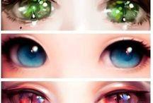 Göz çizimleri Eye Manga