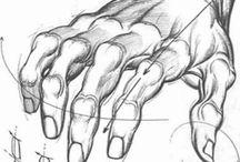 El çizimi Hand Manga