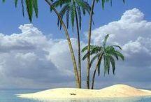 I love little tropical islands / Aruba, Bonaire, Curacao, Barbados, Saint Lucia, Martinique, Bahamas, Fiji, Polynésie, Tokelau etc etc