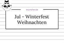 Jul - Winterfest - Weihnachten / Ideen und Inspirationen, einige Rezepte, Anleitungen und Geschichten zum Feiern des Jahresfestes im Winter. Egal, ob man es Jul oder Weihnachten nennt. Oder ganz anders.