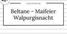 Beltane - Maifeier - Walpurgisnacht / Ideen, Anleitungen und Inspiration zum Feiern des Fruchtbarkeitsfestes im Frühling. Eine Feier im Jahreskreis, egal, ob man es Beltane oder anders nennt. Zum Selbermachen, Feiern, Dekorieren .