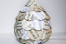 Sheet music paper crafts