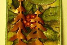 Home made christmas tags.