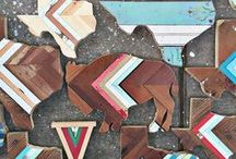 H&H Reclaimed Bison Wall Hangings